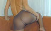 Nylon Passion 442697 Tan Pantyhose On Pretty Teen Blonde Cute Teen Blonde Elisa Teases With Her Tan Pantyhose And Legs Which Look So Beautiful Covered With Nylon