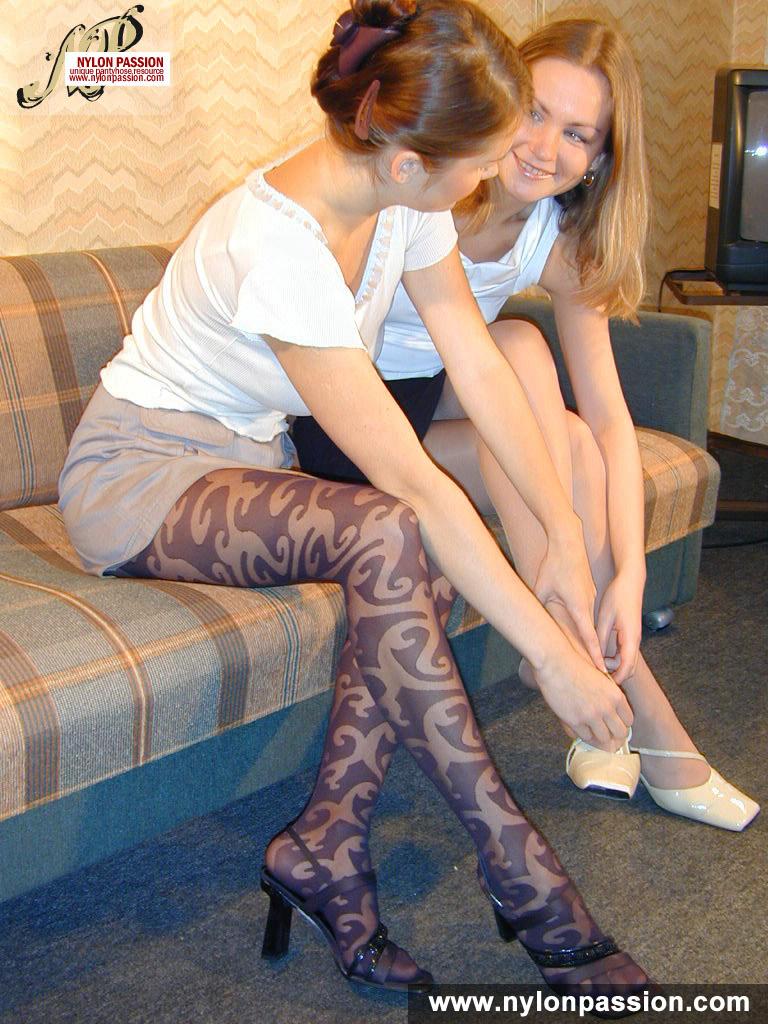 Feet Face Handjob Nylon