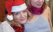 Nylon Passion 442753 Tan Pantyhose Lesbian Christmas Teen Blonde Pantyhose Lesbians Ira And Nadia Celebrate Christmas With Sex In Tan Pantyhose
