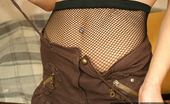 Nylon Passion Fishnet Play Girl Masturbates With Her Fishnet Pantyhose