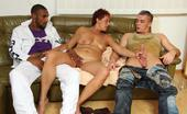 Grandma Friends Granny Drinks And Fucks With Them The Two Young Men With The Big Cocks Double Team A Mature Slut And She Loves It