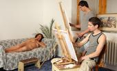 Grandma Friends Wild Granny Goes For A Threesome On A Lark The Granny Decided To Model Nude For Their Paintings And Now She Has Hot Sex