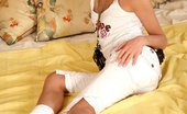 Hanna's Honeypot Hanna Fashion Flares Blonde Teen Cutie Nudes And Squats Her Quim On A Huge Plug