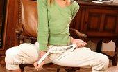 Hanna's Honeypot Hanna Bikini Ballerina0 Cute Blonde Teen Invitingly Drops Blue Bikini And Poses