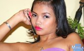 Hot Manila Nights Teen Filipina Yvonny Taking Off Her Bright Pink Panties