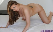 This Is Glamour 445482 Leah Francis Strips Nude From Her Black Thong
