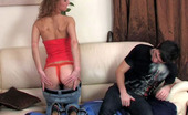 Anal Saga Emilia & Vitas Sex-Crazy Teaser Thrusts Her Booty On A Guy'S Pecker Before Giving Blowjob
