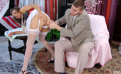 Anal Saga Bridget & Patrick Irresistibly Seductive Babe In White Stockings Surrenders To Anal Onslaught