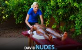 David Nudes Alli Nude Massage Big Boobs Get Rubbed Down Outside In A Nude Massage Session....