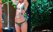 David Nudes Katarina Pool Shower Blonde Amateur Stipping Her Swimsuit And Taking A Nude Outdoor Shower...