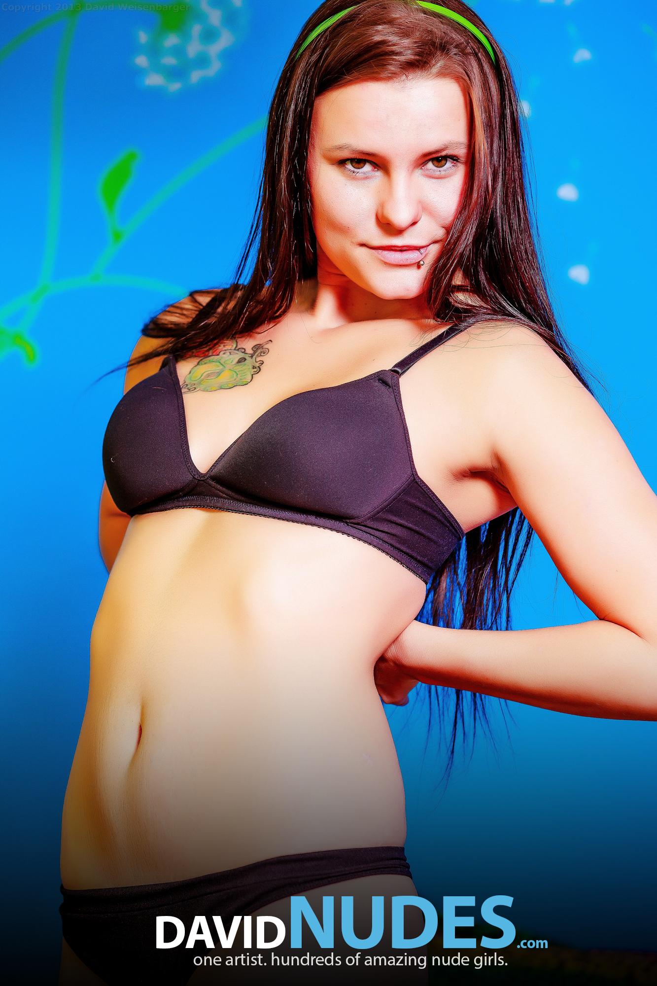 David Nudes Sasha Teen Stripping Smiling Teen In Her Bed Strips ...