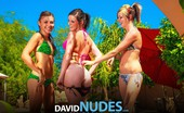 David Nudes Cadence With Brandy And Honey Three Naughty Teens Strip Their Bikinis And Spread Their Pussies By The Pool...