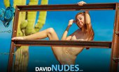 David Nudes Claire Country Girl Petite And Flexible Teen Strips Down Her Jean Shorts In The Desert Heat...
