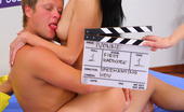 Spermantino Ivonne Brunette Teen'S First Time Fucking On A Porn Set