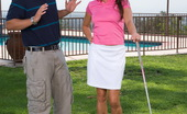 Sunrise Kings 450104 Michelle Lay Sexy Brunette Michelle Lay Gets Pussy Fucked After She Played Golf Outdoor