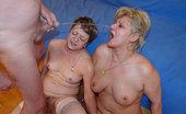 Bizarre Mature Sex Three Mature Sluts Having Pissex With One Dude
