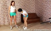 Lesbian Sport Videos Tall Gymnast Lets A Petite Lesbian Coach Fuck Her
