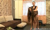 Lesbian Sport Videos Trainer Exercises And Dildo-Stuffs A Nude Gymnast