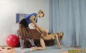 Lesbian Sport Videos Lewd Lesbian Trainer Coaches A Nude Gymnast