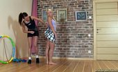Lesbian Sport Videos Brunette Lesbian Girl Trains A Blonde Flexy Babe