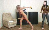 Lesbian Sport Videos Nude Blondie Does Gymnastics Under Lesbian Attack