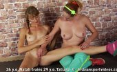 Lesbian Sport Videos Fleshy Trainer Exercises A Slim Girl In Sex Sports