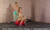 Lesbian Sport Videos Lesbian Training Of Flexibility And Girl-Girl Kisses