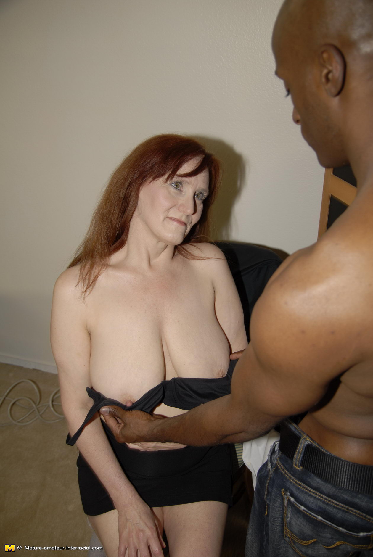 Mature interracial slut