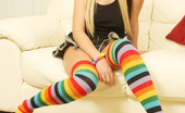 Jessica Cute Jessica Cute Rainbow Socks And Huge Teen Hooters