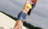 X Nudism Hot Days Call For Teen Nudeness On The Warm Sand