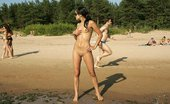 X Nudism Two Skinny Nudist Teens Frolic Around The Beach