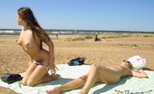 X Nudism Blonde And Brunette Nude Teens Tanning Outdoors