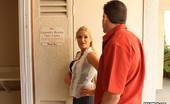 XXX At Work XXX At Work Brooke Belle & Lee Stone Brooke Really Knows How To Use Her Assets To Get The Sale