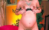 Pregnant And Fucked Pregnant And Fucked Sexy Pregnant Model Strips Off Her Robe To Show Off Her Huge Belly And Play With Her Cooter