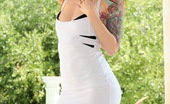 Pacino's Adventures Pacino's Adventures Ivy Snow Wears A Tight White Dress And Reveals She Has On No Panties While She Plays With Her Dildo