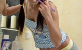 Fatal Girls Nicole Oiling And Toying In Bathroom