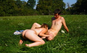 Teen Dorf Aneta & Ales The Warm Sun And Soft Grass, Combine To Make This The Perfect Spot For An Outdoor Escapade. Soon, This Teen Cutie Has A Cock Pushing Deep Inside Of Her Tender Pussy.