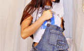 Teen Katie 18 Year Old Teen Katie Strips Out Of Her Denim Overalls