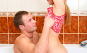 Bang My Teen Ass 457483 Nice Bathroom Sex Girlie Entered Room And Saw Her Boyfriend Taking Hot Bath. She Decided To Seduce Him To Have Nice Sex Right There. See How She Touches His Dick Using Feet, How Guy Undresses Her Slowly, Washes Body Of This Beauty, Gets His Dick Sucked We