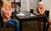 His Mommy Slim Gf Seduced By His Hot Mom A Game Of Poker Ends With The Guy Leaving And His Mother Doing His Hot Blonde Gf