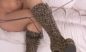 Foot Fetish Porno Babe Taking Off Boots Nude On A Sofa