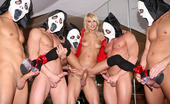 Gangbang Junkies 458697 Jasmine Rouge Trick Or Treat? Only Here Will You Get Both! The Treat Is A Devilish Snatch With Ripe Melons And Candy Dishes Just Dying To Get Filled Up With Sweet Man Meat! And The Trick, Is How She Gets 5 Loads Of Cum!