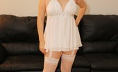 Faith 69 Faith 69 Faith Is Horny In Sexy White Lingerie And Stockings