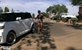 Aziani Xposed Amber Lynn Bach Amber Lynn Bach Decides To Get Changed Outside Of The Car, Takes A Little Jog, And Then Proceeds To Pleasure Herself During The Drive!