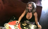 Aziani Xposed Amber Lynn Bach Amber Lynn Bach And Rachel Aziani Have Fun Flashing For The Camera At The Bar!