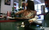 Aziani Xposed Rachel Roxxx Rachel Roxxx Has Fun Flashing Her Pussy And Boobs At Lunch!
