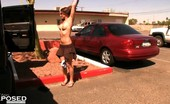 Aziani Xposed Misty Anderson Sexy Babe, Misty Anderson, Loves Getting Naked In Public And Decides To Change Her Outfit Outside Of The Car While Standing In The Parking Lot!