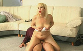 Stunning Matures Carol & Adam Blonde Milf Comforting A Sad Guy And Giving Him Some Encouraging Blowjob