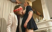 Stunning Matures Sara & Mike Mature French Maid Is About To Give Blindfold Guy A New Fucking Sensation