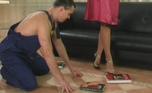 Stunning Matures Bridget & Connor Stunning Mature Babe Making A Worker Act Her Humble Sex Toy And Fucking Him